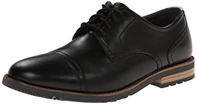 Rockport Men's Ledge Hill Too Cap Oxford Black 7.5 M (D)-7.5 M