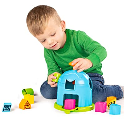 Fat Brain Toys Shape Factory Early Learning Toys for Ages 2 to 3: Toys & Games