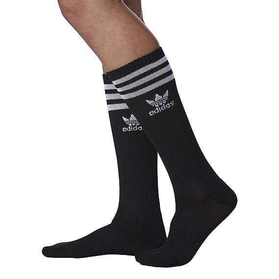 Amazon.com: adidas Womens Originals Roller Knee High Socks (1-Pack), Black/White, Medium: Sports & Outdoors