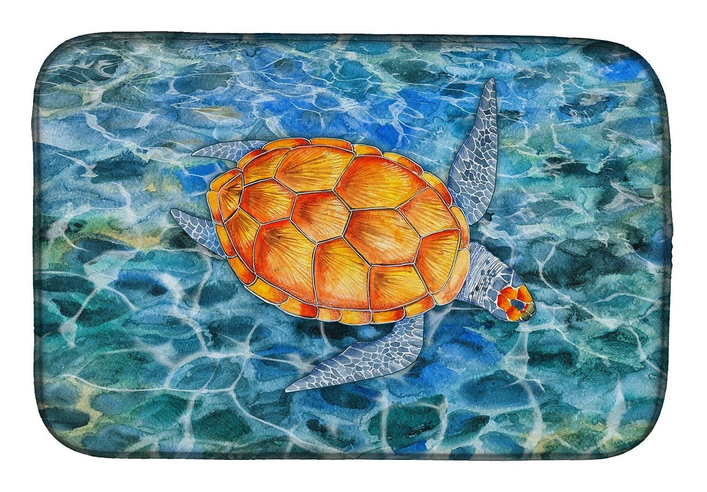 Caroline 's Treasures bb5364ddm Sea Turtleディッシュ乾燥マット、14 x 21、マルチカラー   B07BQDJP49