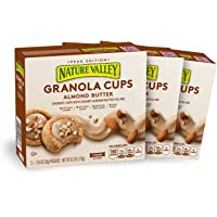 Nature Valley Peak Edition Granola Cups, Almond Butter, 1.24 Ounce, 5 Count (Pack of 3)
