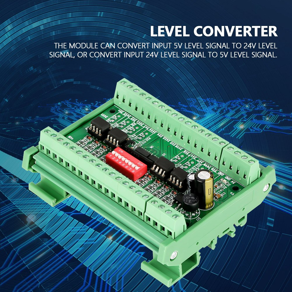 scheda di conversione del segnale ad onda quadra ad alta velocit/à NPN//PNP a NPN 5V 24V 10MHZ Modulo convertitore di livello a 8 canali