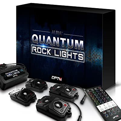 OPT7 LED Rock Lights 4pc - RGBW Multicolor w/remote - Dimmer Strobe Fade IP67 Waterproof Pods for Off Road, Crawling, and Climbing - 2 Year Warranty: Automotive [5Bkhe1015202]