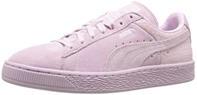 PUMA Womens Suede Classic Emboss Wns Fashion Sneaker       Lilac Snow