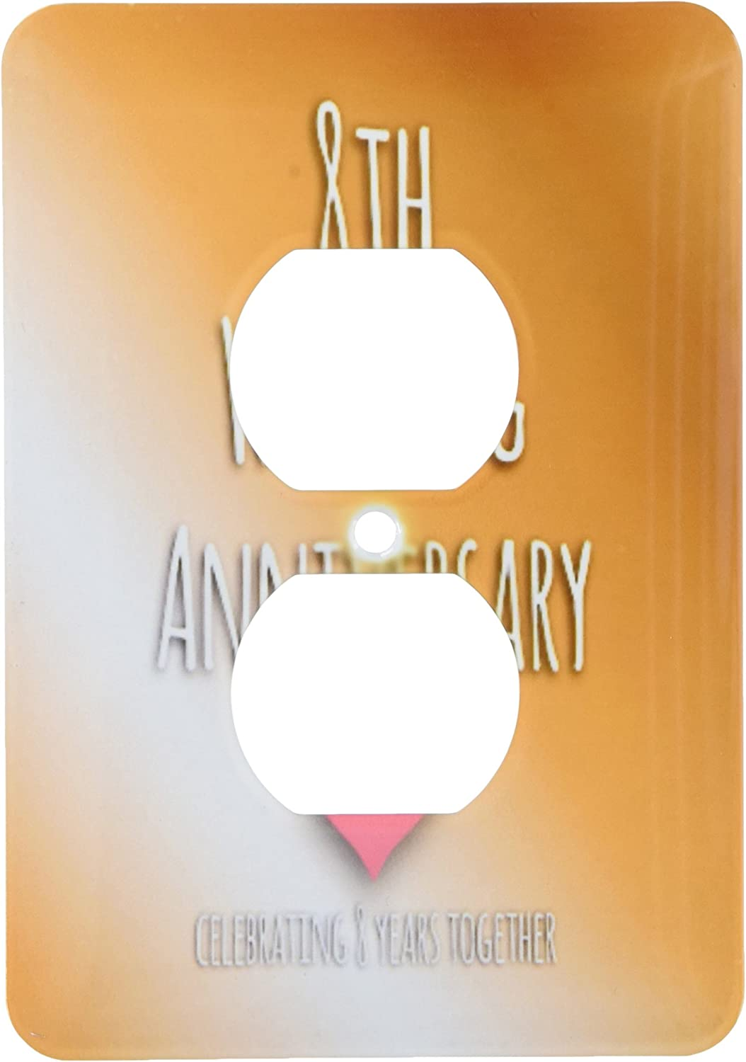 3drose Lsp 154439 6 8th Wedding Anniversary Gift Bronze Celebrating 8 Years Together Eighth Anniversaries Eight Yrs Light Switch Cover Outlet Plates Amazon Com