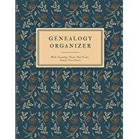 Genealogy Organizer With Genealogy Charts And Forms, Family Tree Charts: Perfect Genealogy Gift For Family History Buff & Genealogists; My Heritage Family Tree Book You Fill In; Family History Journal Scrapbook; Tree Of Life Journal; Ancestry Workbook