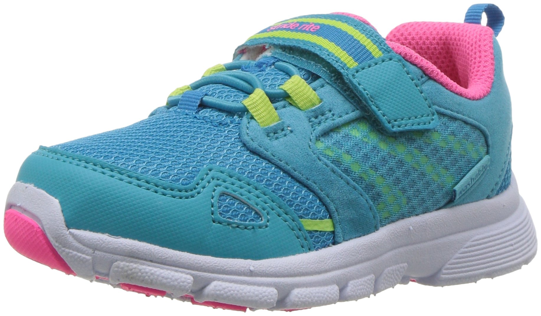Stride Rite Girls' Made 2 Play Taylor Sneaker, Turquoise 6.5 M US Toddler