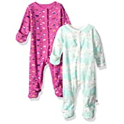 Rosie Pope Baby Girls 2 Pack Coveralls, Pink, 0-3 Months