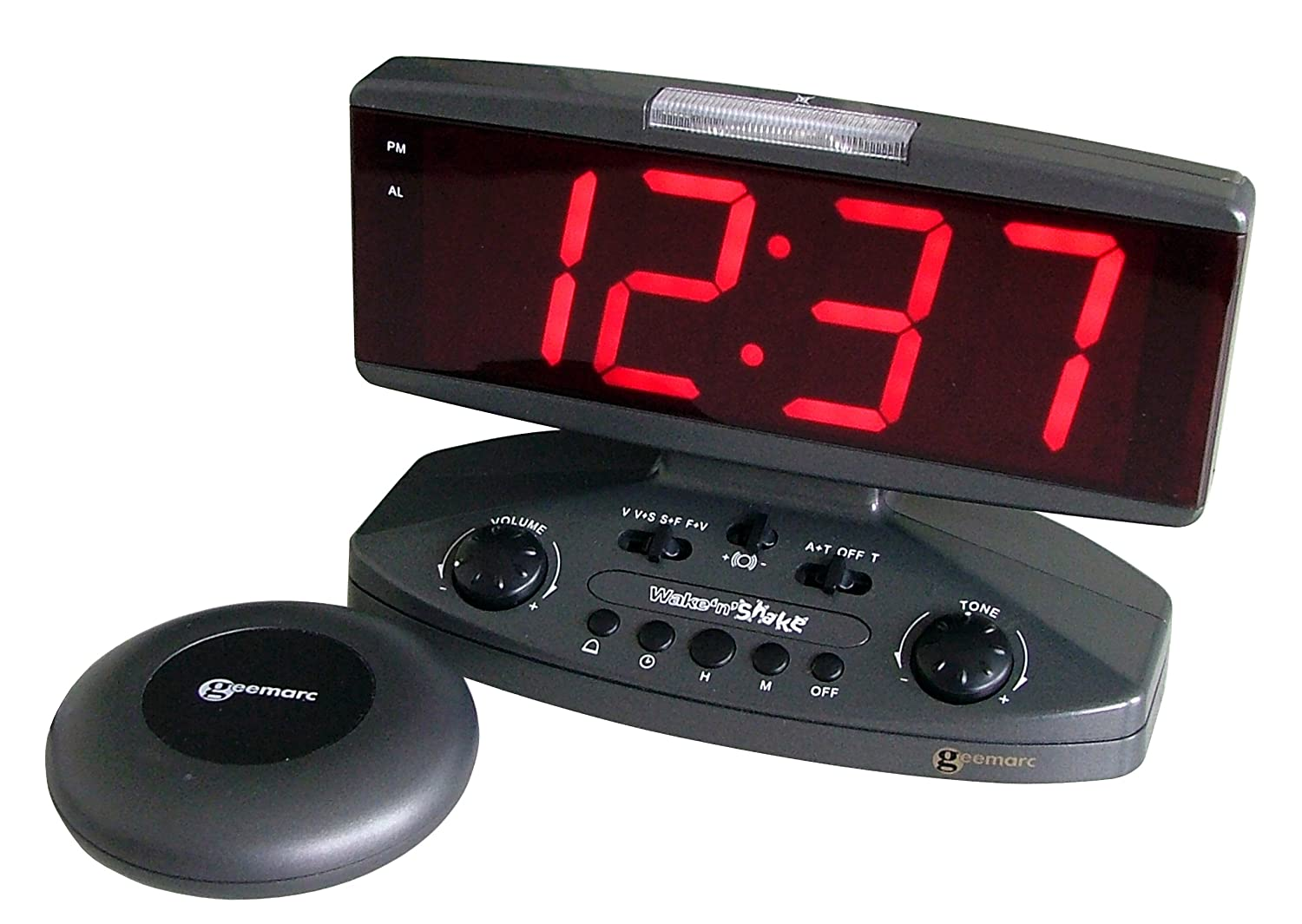 Sonic Alert Wake Up Call Extra Loud Alarm Clock with Super Shaker