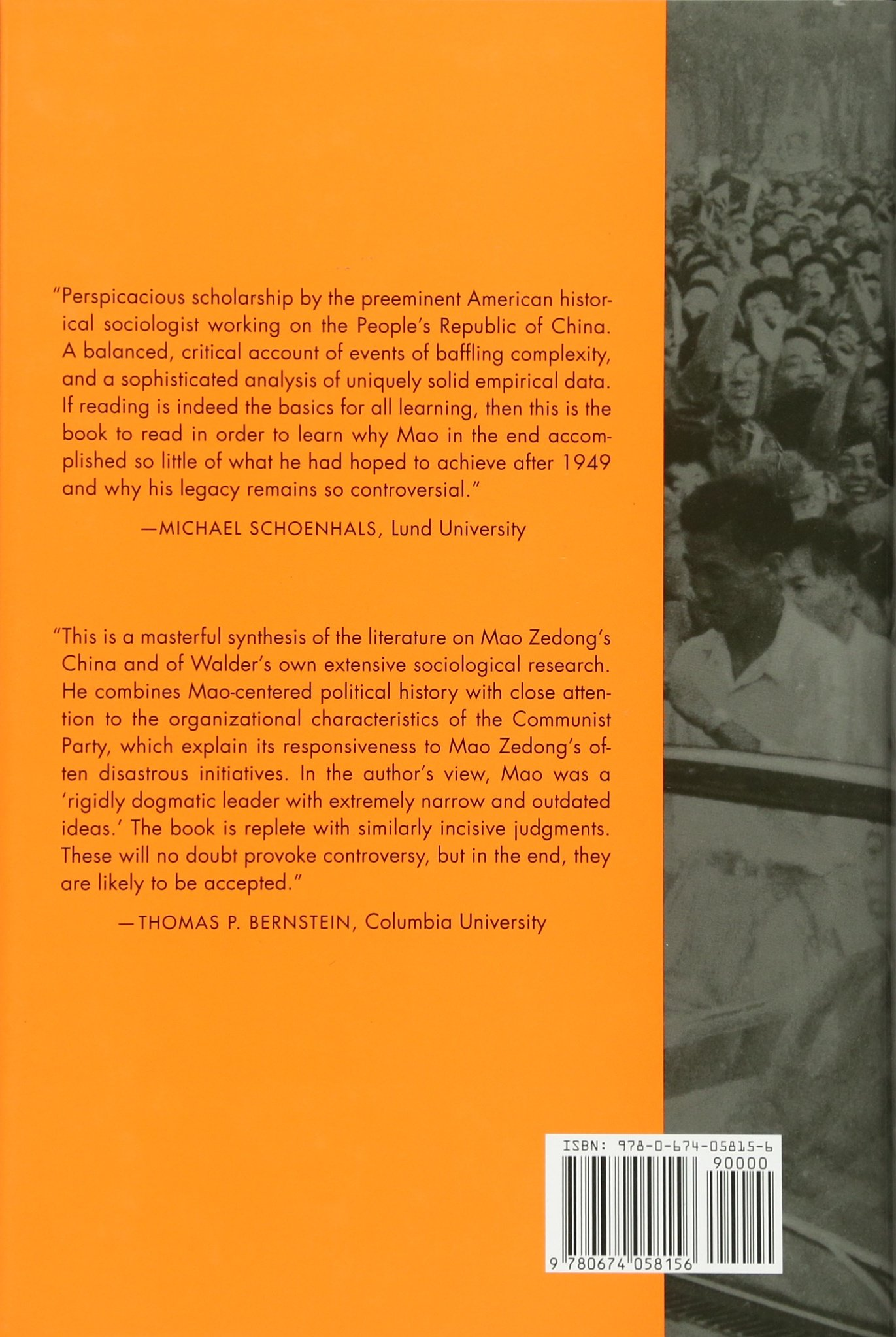 China Under Mao: A Revolution Derailed: Andrew G Walder: 9780674058156:  Amazon: Books