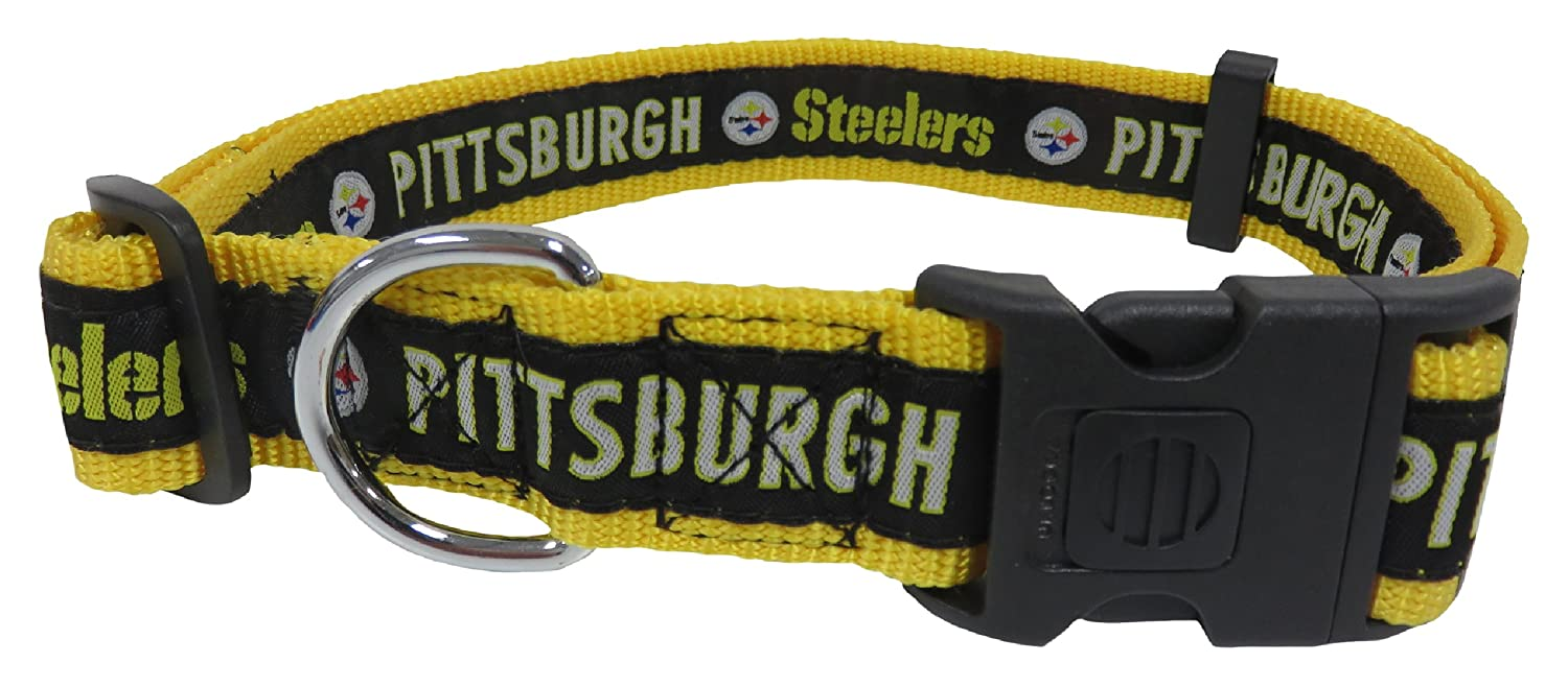654d54fce94 Amazon.com : Pets First NFL Pittsburgh Steelers Dog Collar, X-Large : Pet  Supplies