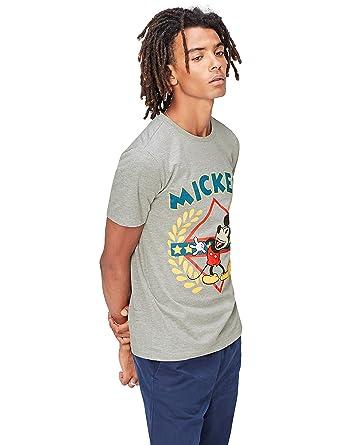74f4106d9e1cd5 FIND T-Shirt Herren mit Comic-Print und rundem Ausschnitt  Amazon.de   Bekleidung