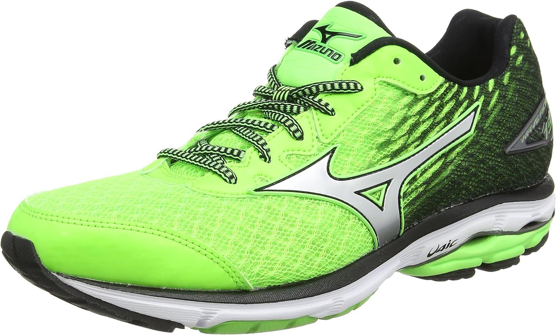 Mizuno Wave Rider 19, Zapatillas de running para hombre, verde ...