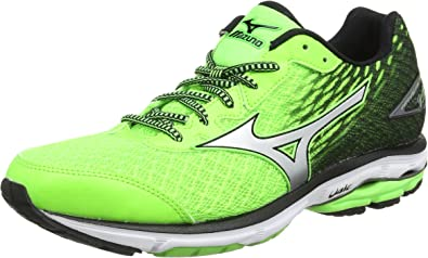 Mizuno Wave Rider 19, Zapatillas de running para hombre, verde (twilight blue/silver/green gecko), 40.5 EU: Amazon.es: Zapatos y complementos
