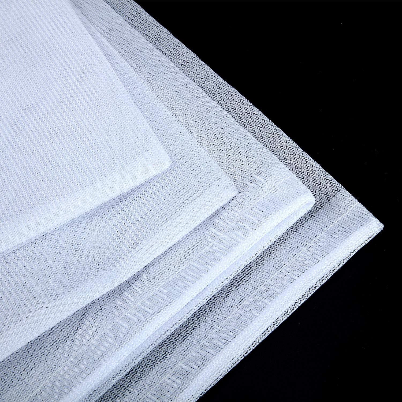 Boao Sacs /à Mailles Fines Sacs Filtrants Sacs de Nettoyage de Piscine Sac de Feuilles en Maille avec Cordon de Traction et Verrouillage pour Nettoyage de Feuilles de Piscine 4
