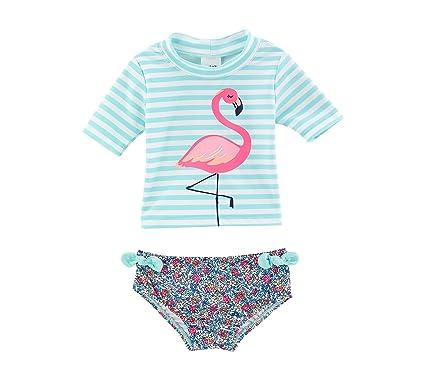 68785f7c5 Amazon.com: Carter's Baby Girls' Flamingo Rashguard Swimsuit Set 12 ...