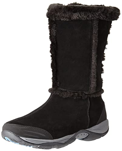 Stylish Easy Spirit Elk W Round Toe Suede Winter Boot Black For Women Online