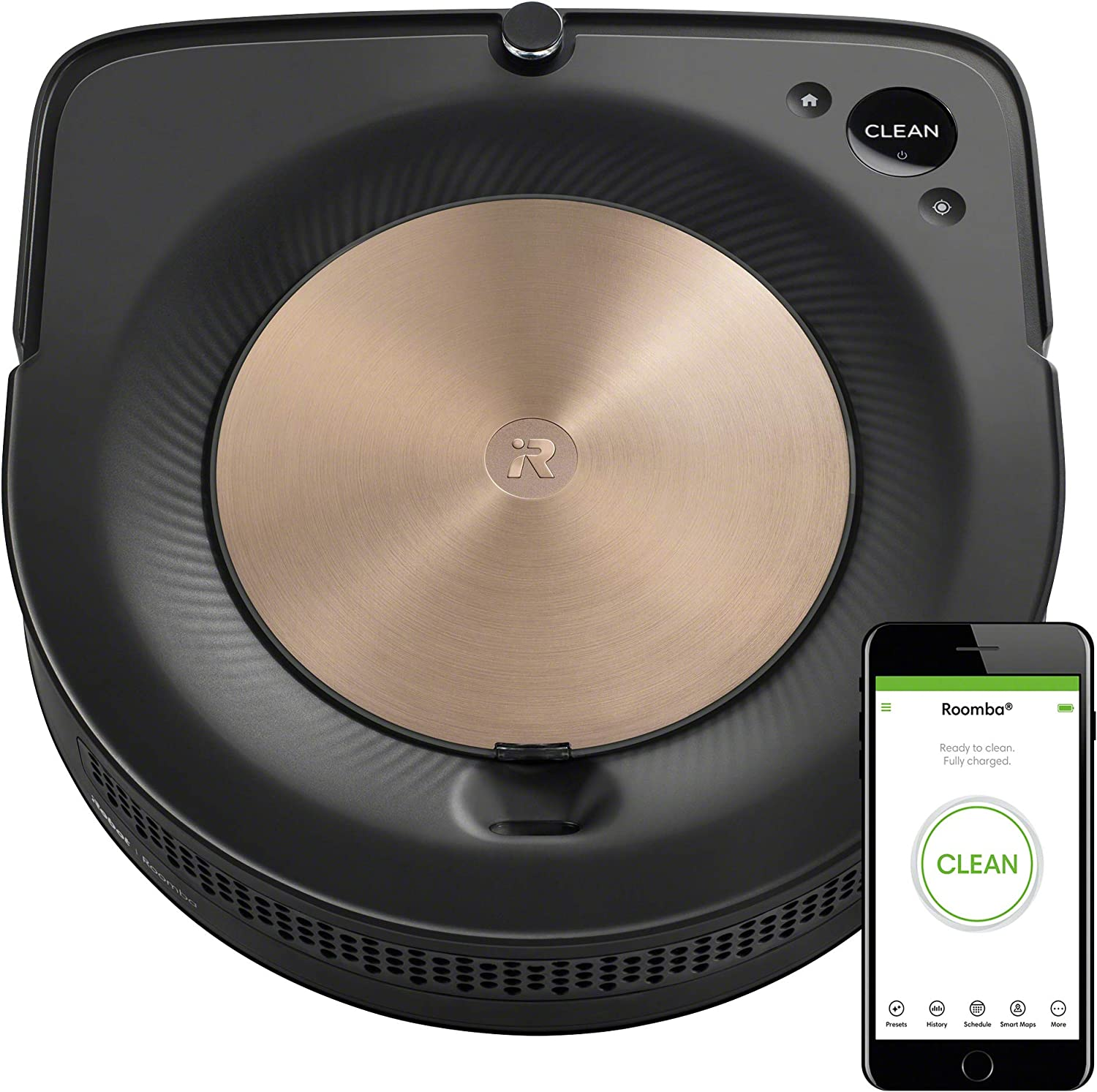 iRobot Roomba S9 (9150) Robot Vacuum- Wi-Fi Connected, Smart Mapping, Powerful Suction, Works with Alexa, Ideal for Pet Hair, Works With Clean Base