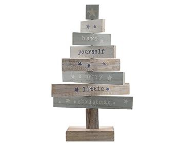 Weihnachtsdeko Holz Modern.Dekobaum Christmas Holz Mint Weiß Natur Weihnachtsdeko