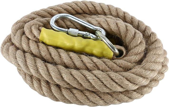 NiceDD - Cuerdas de escalada para gimnasio (13 pies/4 m, con mosquetón para mejorar el agarre y aumentar la potencia