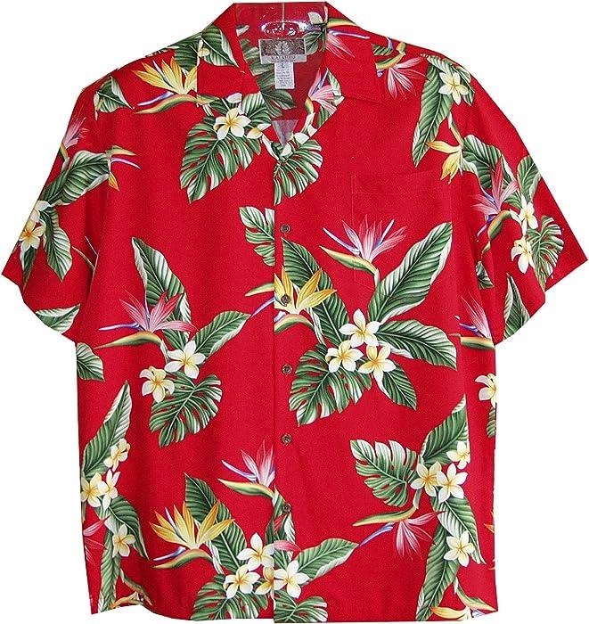 RJC Mens Bird of Paradise Display Rayon Shirt