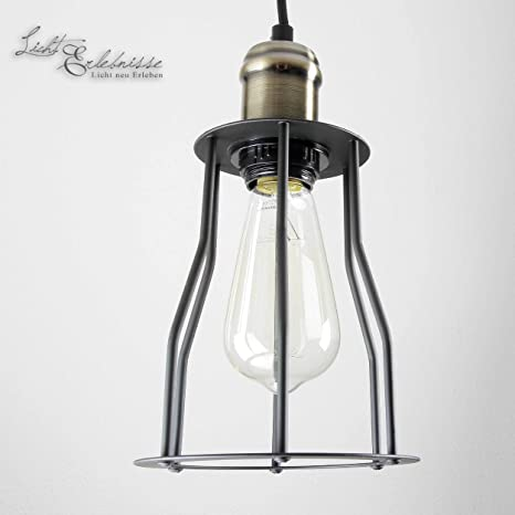 Grandes Edison - Lámpara colgante de metal Vintage Retro E27 ...
