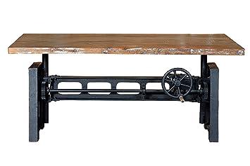 Indodecor table en fer forgé bureau industriel table relevable