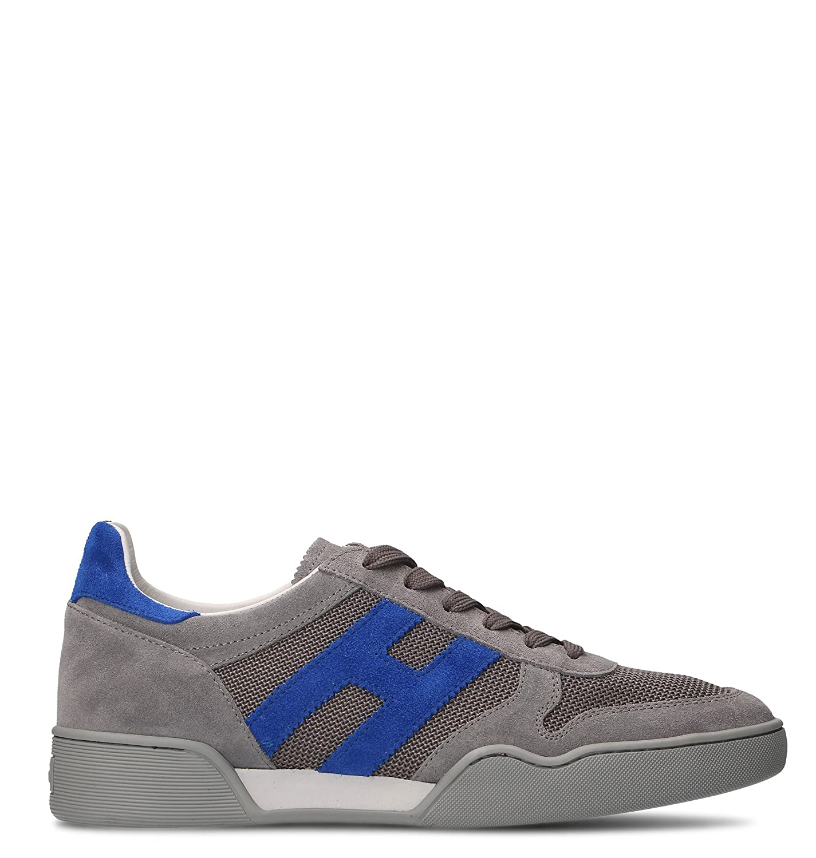 Hogan メンズ HXM3570AC40J0X749G グレー 革 運動靴 B079YXFXWZ undefined JP - Brand Size 6