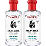 THAYERS Witch Hazel Unscented Face Toner, Natural, Alcohol Free with Aloe Vera, Hydrating and Refreshing for All Skin Types,