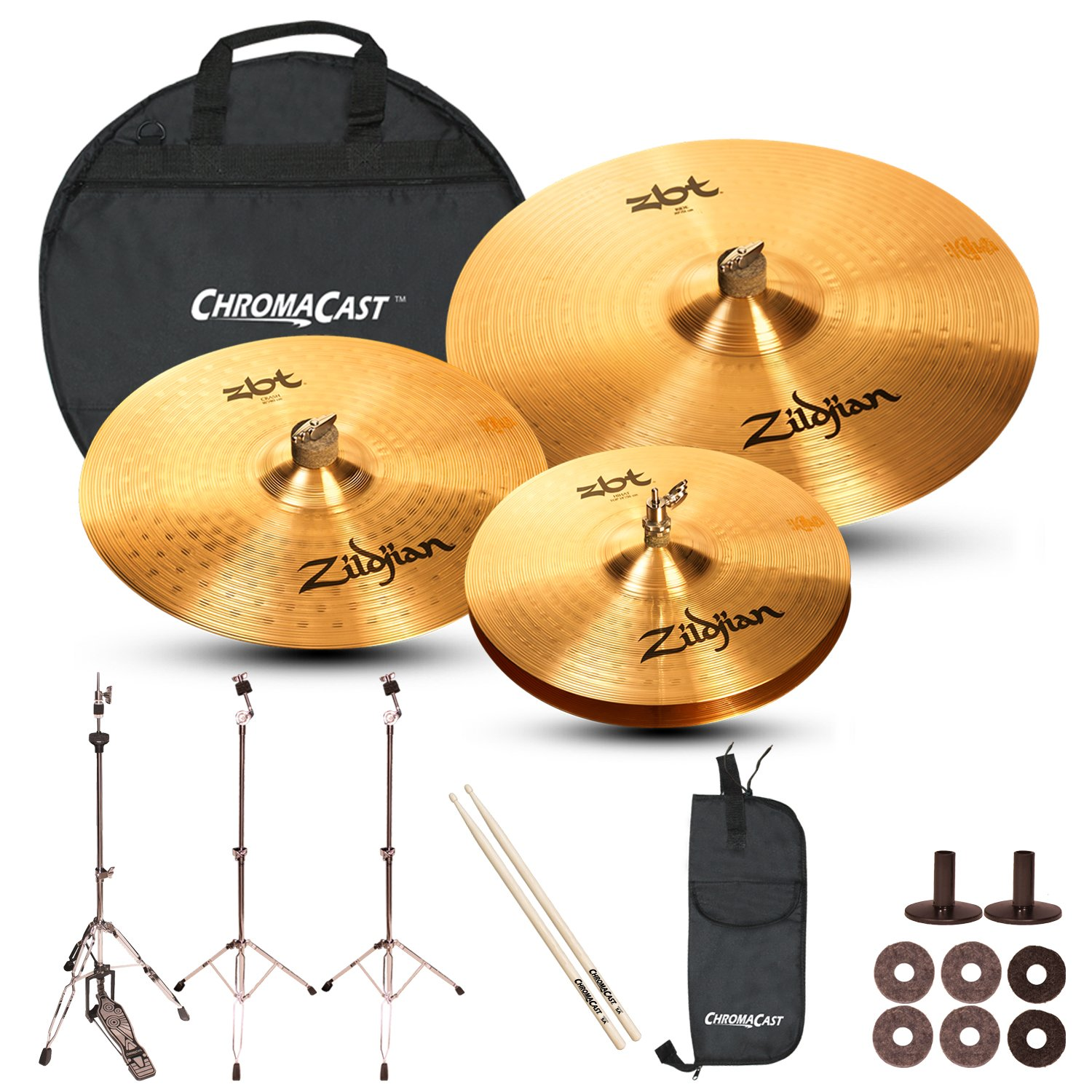 Zildjian Complete Cymbal Set with Hardware & Accessories JF-Z-ZBT-COMPLETE-HRDW