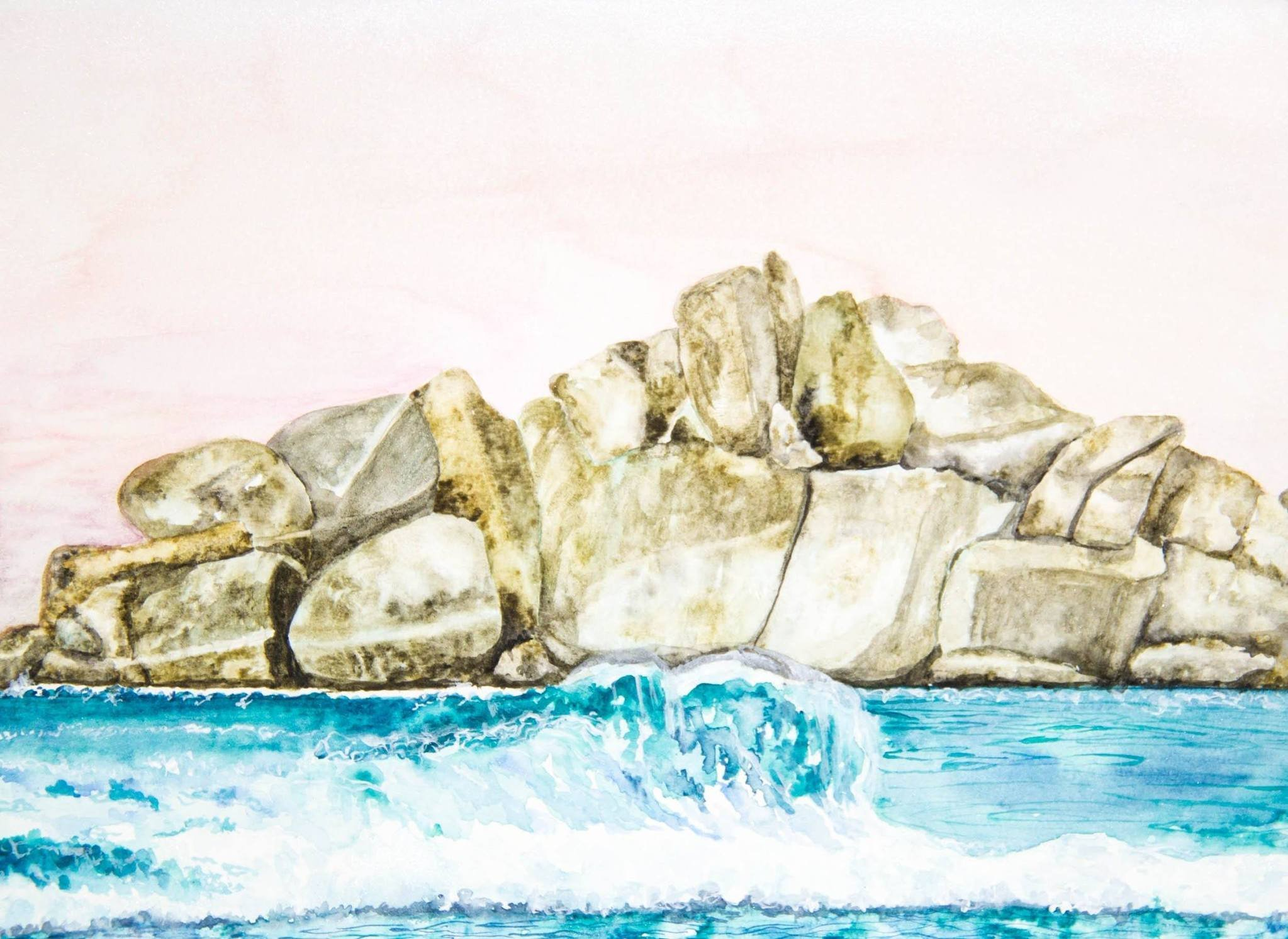 WEST COAST VIBES AND ROCKY SHORE LINES THIS PRINT IS A LOVE NOTE TO THE CALIFORNIA COAST