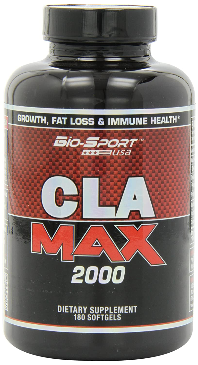 Biosport USA Cla Max 2000 Weight Loss Capsules, 180 Count