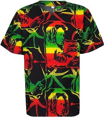 05cdabed5 Bob Marley V Neck Shirt T-Shirt Rasta African Style Jamaican Reggae Pure  Cotton