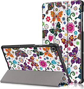 Epicgadget Case for Lenovo Tab M10 FHD Plus (2nd Gen) TB-X606, Slim Lightweight Auto Sleep/Wake Trifold Stand Cover Case for Lenovo Tablet M10 FHD Plus 10.3 Inch Display 2020 Released (Butterfly)