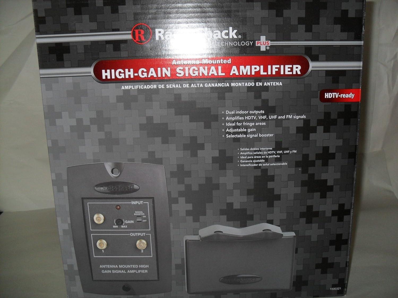 Radioshack antena-montaje en amplificador de señal de alta-ganancia 15 - 321upc #040293157319: Amazon.es: Electrónica
