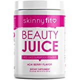 SkinnyFit Beauty Juice, Red Superfood Powder, Acai Berry Flavor - Anti-Aging, Aids in Digestion, Helps Boost Mood & Immunity,