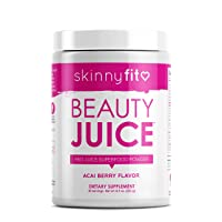 SkinnyFit Beauty Juice, Red Superfood Powder, Acai Berry Flavor - Anti-Aging, Aids...