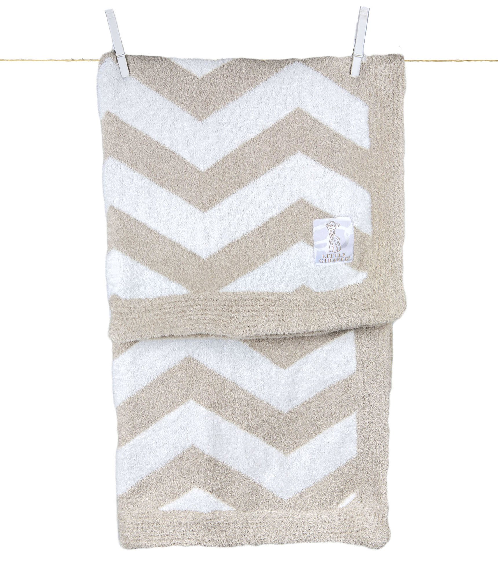 Ritorujirafu Little Giraffe - Dealer imports] Dolce Chevron baby blanket (flux) / BOX containing lg0088-03B