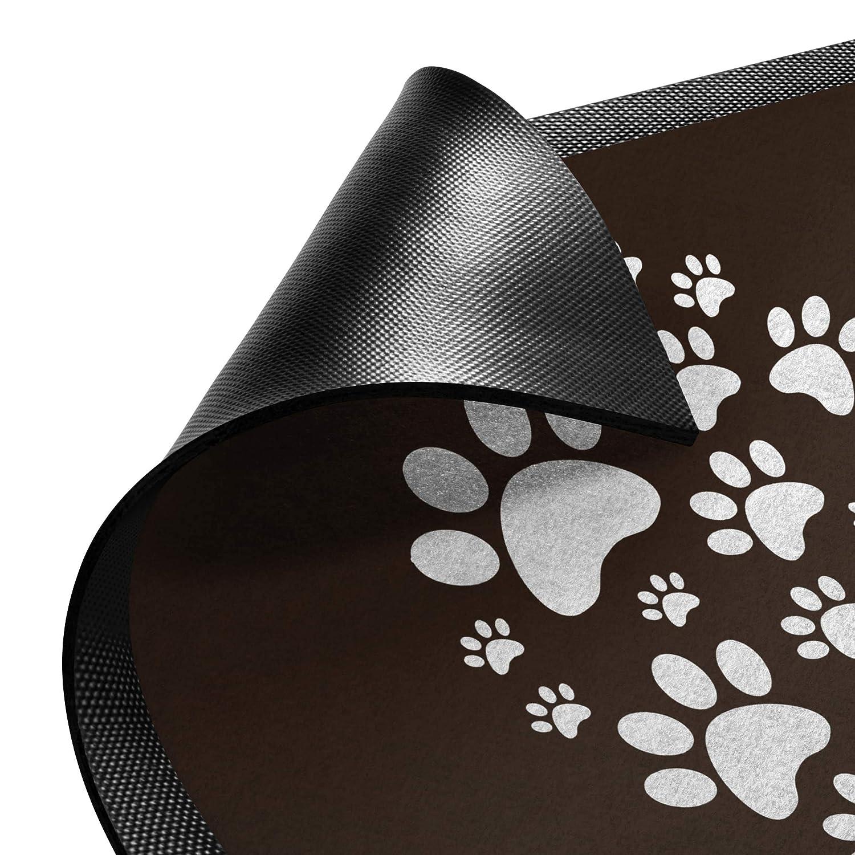 Bilderwelten Fußmatte Gummi Türvorleger Türvorleger Türvorleger Innen - Außenbereich Herz für 4 Pfoten 40x60cm Puder B07NS4W6XH Fumatten 0278da
