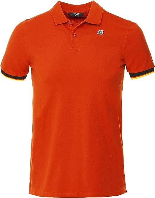 K-WAY Hombres Camisa Polo Slim Fit Vincent M Naranja: Amazon.es ...