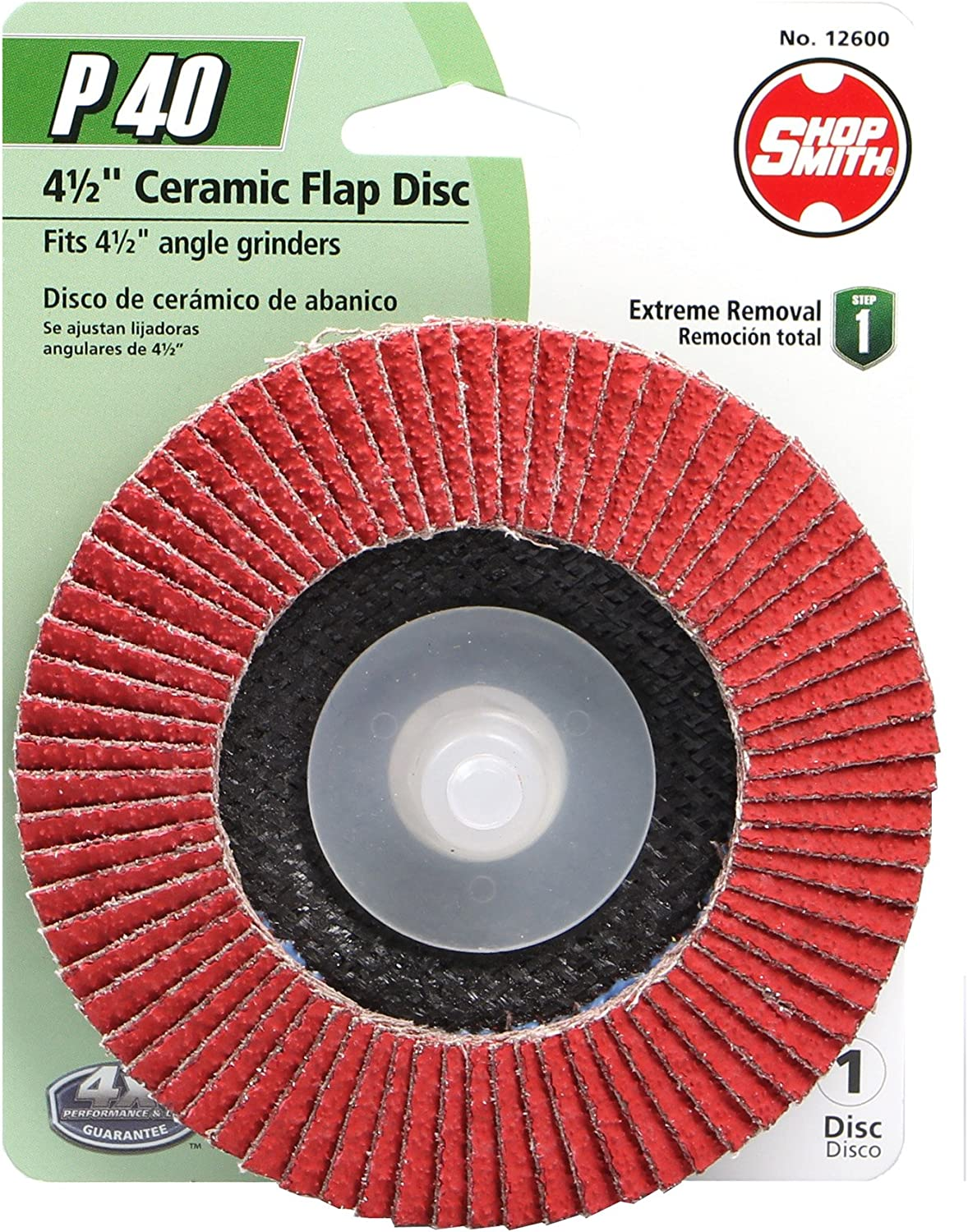 Shopsmith 12600 40 Grit Ceramic Specialty (1 Pack), 4.5""