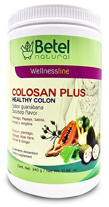 Colosan Plus Colon Cleanse Guanabana Flavor- Whole Psyllium Husk with Probiotics, Prebiotics, and
