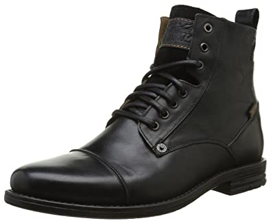 7cc56ca40f1 Amazon.com | Levi's Men's Emerson Leather Lace Up Ankle Boot Black ...