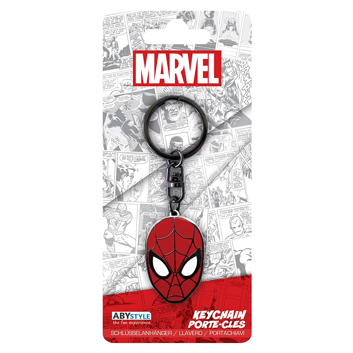 Amazon.com: AbyStyle Abysse Corp_ABYKEY166 Marvel-Keychain ...