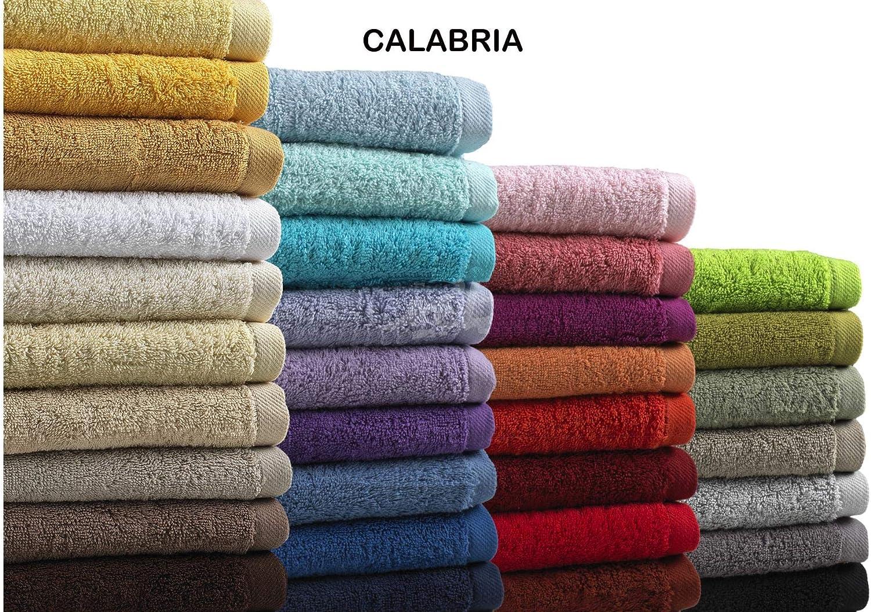 Calabria Toalla 70x140 Algodón Peinado (Burdeos): Amazon.es: Hogar