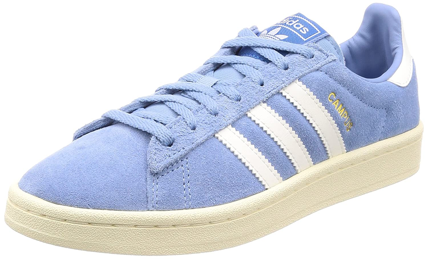 adidas Damen Campus W Gymnastikschuhe  38 2/3 EU|Blau (Ash Blue S18/Cloud White/Cream White)