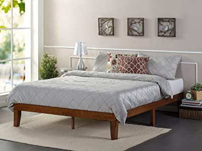 Zinus Wen 12 Inch Wood Platform Bed Frames / No Box Spring Needed / Wood Slat Support / Cherry Finish, King top 5 bed - 81dkG88mhZL - Top 5 Bed in 2019 – Steps in choosing the right bed for your home