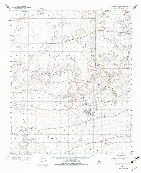 Amazon.com: YellowMaps Vulture Mountains AZ topo map, 1:62500 scale ...