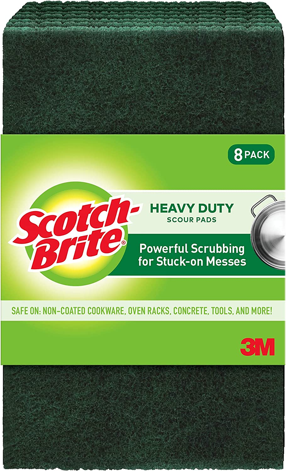 Amazon Com Scotch Brite Heavy Duty Scour Pads Ideal For Garden Tools And Grills 8 Pads Home Kitchen