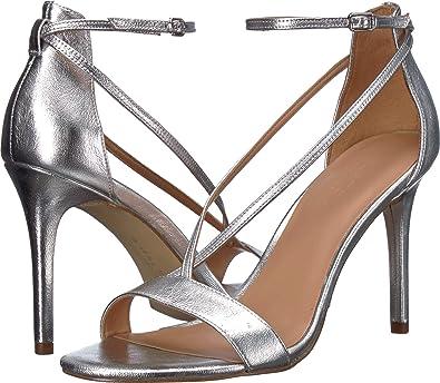 6e77e300b0f7 Halston Heritage Women s Evie Heels Silver Metallic 5.5 ...
